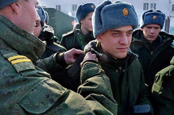 Призыв на военную службу в городах России